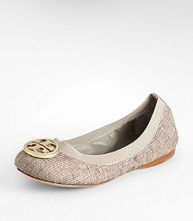 Metallic Lurex Caroline Ballet Flat