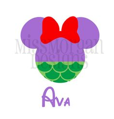 Personalized Princess Little Mermaid Ariel  Mouse Disney iron on decal vinyl for shirt
