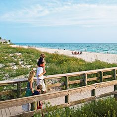The beach in Englewood, Florida