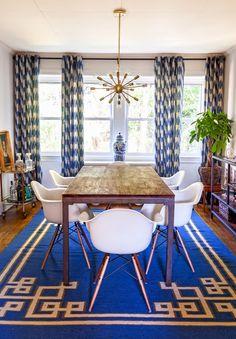 Effortless boho chic dining room