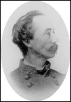 Brigadier General Thomas Moore Scott (1829 – 12 Apr 1876) saw active service in several battles in the Western Theater of the American Civil War.  Scott was promoted to the grade of brigadier general on May 10, 1864 after distinguished service at the beginning of the Atlanta campaign.  He was severely wounded in the back from concussion of a shell on November 30, 1864 at the Battle of Franklin and apparently saw no further action.  No record of his parole has been found.
