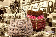 borse di lana con piastrelle fatte al telaio