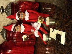 Elf got caught roasting marshmallows!