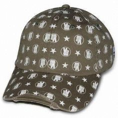 Baseball Caps, Made of Heavy Brushed Cotton Twill