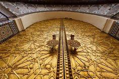Ornate door. Fez, Morocco
