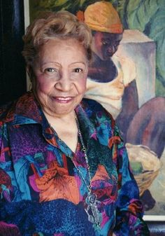 """Portrait of Lois Mailou Jones circa 1998 (age 92) - Jones felt that her greatest contribution to the art world was """"proof of the talent of black artists."""""""