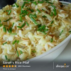 Sarah's Rice Pilaf | A little rice, a little orzo, a lot of great taste.
