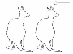 Give a like for this adorable kangaroo template.