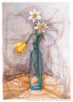 Watercolour by Irina Vinnik, via Behance