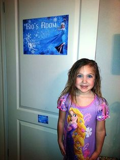 #Frozen fan Rio shows off her custom Frozen #walldecal. Great work Rio! Make one with your little one here: http://bit.ly/1j2WvBm