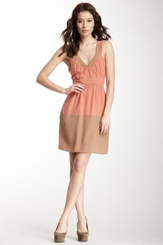 M Missoni Silk V-Neck Colorblock Dress