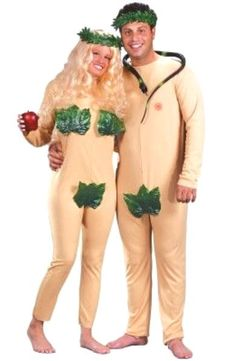 Eve and Adam Couple Costume, Group Halloween Costumes, Couples Halloween Costumes and Family Halloween Costumes