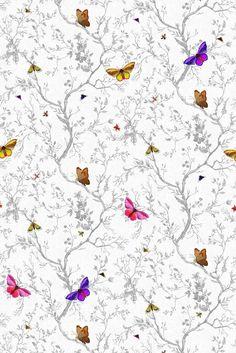 Timorous Beasties Wallcoverings - Butterflies Frost