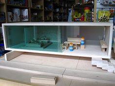 miniature modern dollhouse