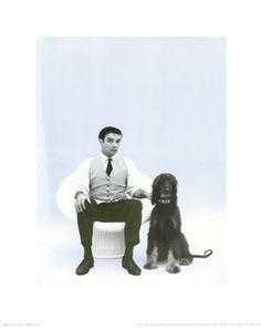 Yves Klein with Afghan Hound