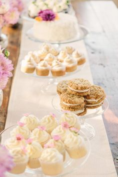 Cupcakes and Cookies and Cakes - oh my! See the wedding on SMP: http://www.StyleMePretty.com/2014/02/03/intimate-copain-winery-wedding/ Matt Edge Wedding Photography