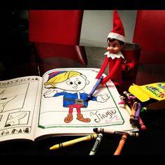 Elf coloring