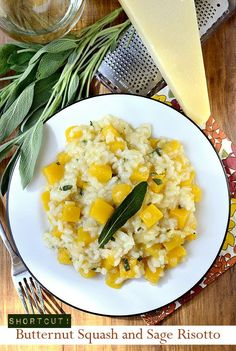 Shortcut Butternut Squash and Sage Risotto | iowagirleats.com