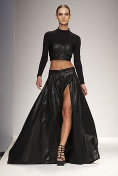 fashion weeks, dress, spring summer, red carpets, project runway, spring 2014, michael costello, rtw spring, black