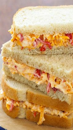 pimento cheese sandwiches, chees sandwich