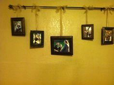 photos from a curtain rod