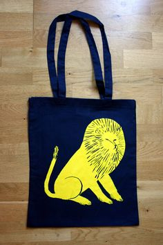 Lion  tote bag by hellojenuine on Etsy, $15.00