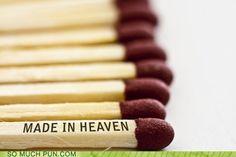 a match made in Heaven. Cute wedding favor