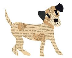 Cute ART made out of Recycled Book Pages!