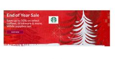 Save 50% at Starbuck