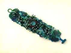 Beaded jewelry Beadwork bracelet Freeform peyote bracelet by ibics, #beadwork
