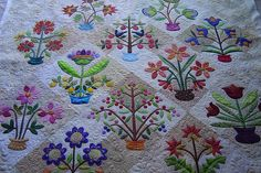 Potted Plants quilt. Jessica's Quilting Studio