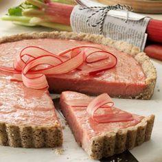 Rhubarb Tart with Shortbread Crust