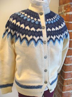 Vintage Dale of Norway Cardigan Sweater Size 42 by TheOldBagOnline