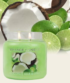 Coconut Milk & Lime-Simmers only - Coconut and limes with notes of ...
