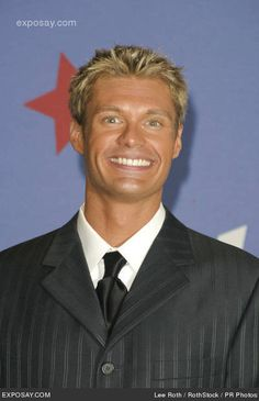 Ryan Seacrest. Nice tan buddy! Love those lighten hair highlights too!