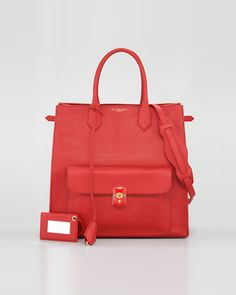 Padlock All Time Tote, Coquelicot by Balenciaga at Neiman Marcus.