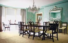 wall colors, dining rooms, dine room, chandeliers, wall paintings, classic dine, candleli design, wall colours, dining room design