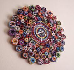 repurpose relove: Recycled Magazine Clock