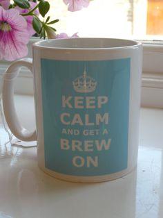 Keep calm and get a brew on #coffee #mug