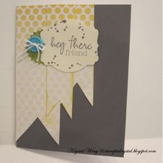 My paper Pumpkin by Stampin' Up! starter kit.  Kinsley's card
