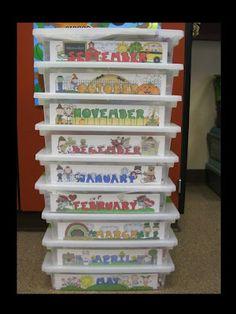 Classroom storage of games idea