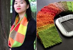 Nice scarf pattern using the new Schacht Zoom Loom schacht zoom, hands, nice scarf, colors, craft ideas, zoom loom, scarf patterns, loom knit, crafts