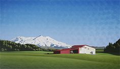 Brian Dahlberg // The Seductress National Park #Art #Landscape #Oil #Painting #NewZealand