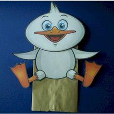 Duck Puppet: Paper Bag