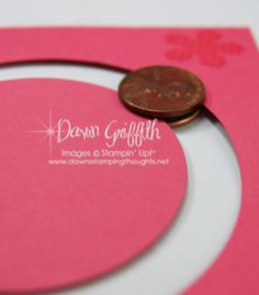 Pennies used to make  spinner card :)