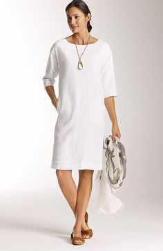 Pure Jill linen easy dress | www.jjill.com