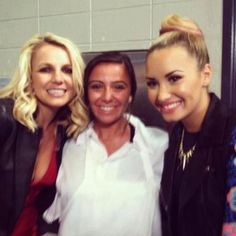 Britney Spears & Demi Lovato with a  Fan...