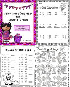 Valentines Math for Second Grade - Smiling and Shining in Second Grade