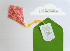 Easy Origami Kite Invitation