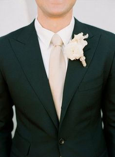 groom black, boys charcoal/grey REVEL: Champagne Groom's Tie Boutonnier, Grooms Suits, Floral Design, Champagne Groomsmen, Black Wedding, Groomsmen Attire Black, Event Planning Design, Champagne Ties, Events Plans